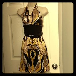 Bebe halter minidress with belt - NWT